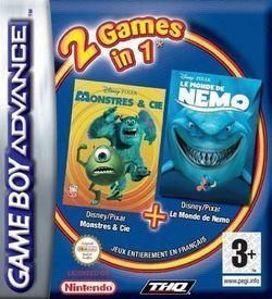 2 In 1 - Monstres & Cie & Le Monde De Nemo ROM