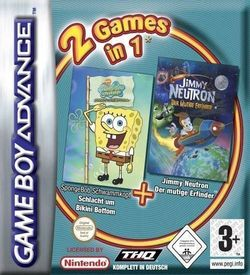 2 In 1 - Spongebob Squarepants Battle For Bikini Bottom & Jimmy Neutron Boy Genius ROM