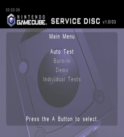 Nintendo GameCube Service Disc Version 1.0 03 ROM