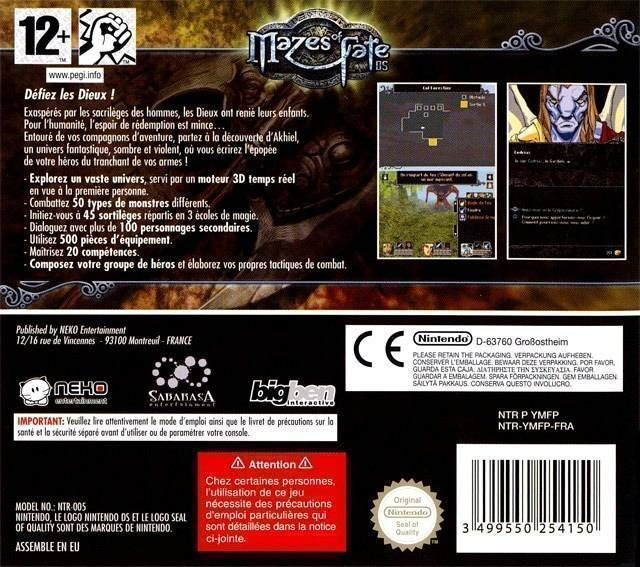 2750 - Mazes Of Fate DS (Puppa)