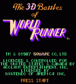 3-D Battles Of World Runner, The ROM
