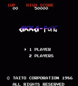 Akka-Pong (Arkanoid Hack) ROM