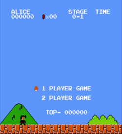 Alice Cooper (SMB1 Hack) (Older) ROM