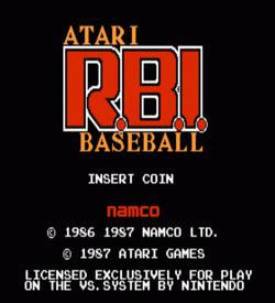 Atari RBI Baseball (VS) ROM