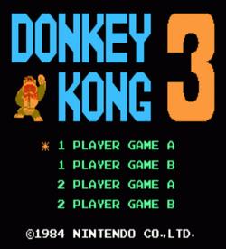 Donkey Kong Ebola (Donkey Kong 3 Hack) ROM
