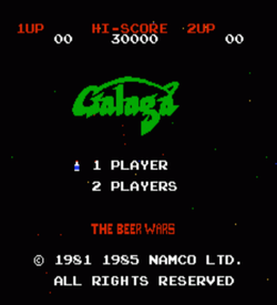 Galaga Beer Wars (Hack) ROM