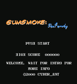 Gum Smoke - The Parody (Gun Smoke Hack) ROM