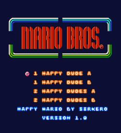 Happy Mario (Mario Bros Hack) ROM