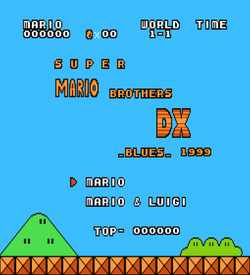 Super Mario Bros DX Blues (SMB1 Hack) ROM