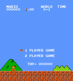 Super Mario Bros (JU) (No Title Hack) ROM