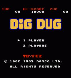 Tempez Dig Dug (Hack) ROM