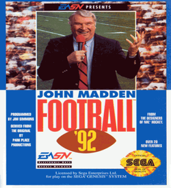 John Madden Football 92 ROM