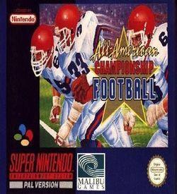 All-American Championship Football ROM