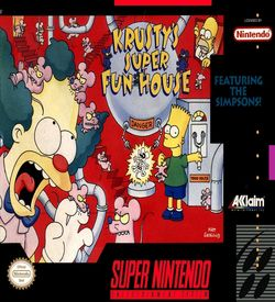 Simpsons, The - Krusty's Super Fun House  [a1] ROM