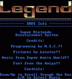 Legend - SNDS Info, Spike McFang Walkthru (PD) ROM