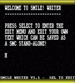 Smile Writer (V1.1) (PD) ROM