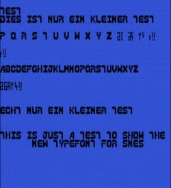 SNES Type Font 2 (PD) ROM