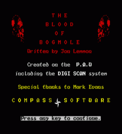 Blood Of Bogmole, The (1986)(Compass Software)[a] ROM