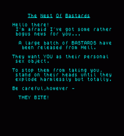 Nest Of Bastards, The (1991)(Greg Fox)[128K] ROM